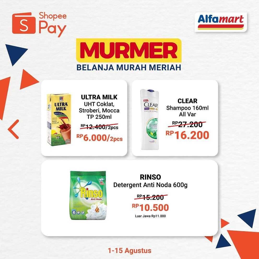 Promo diskon Promo Serba & Murmer Alfamart Untuk Transaksi Menggunakan Shopeepay