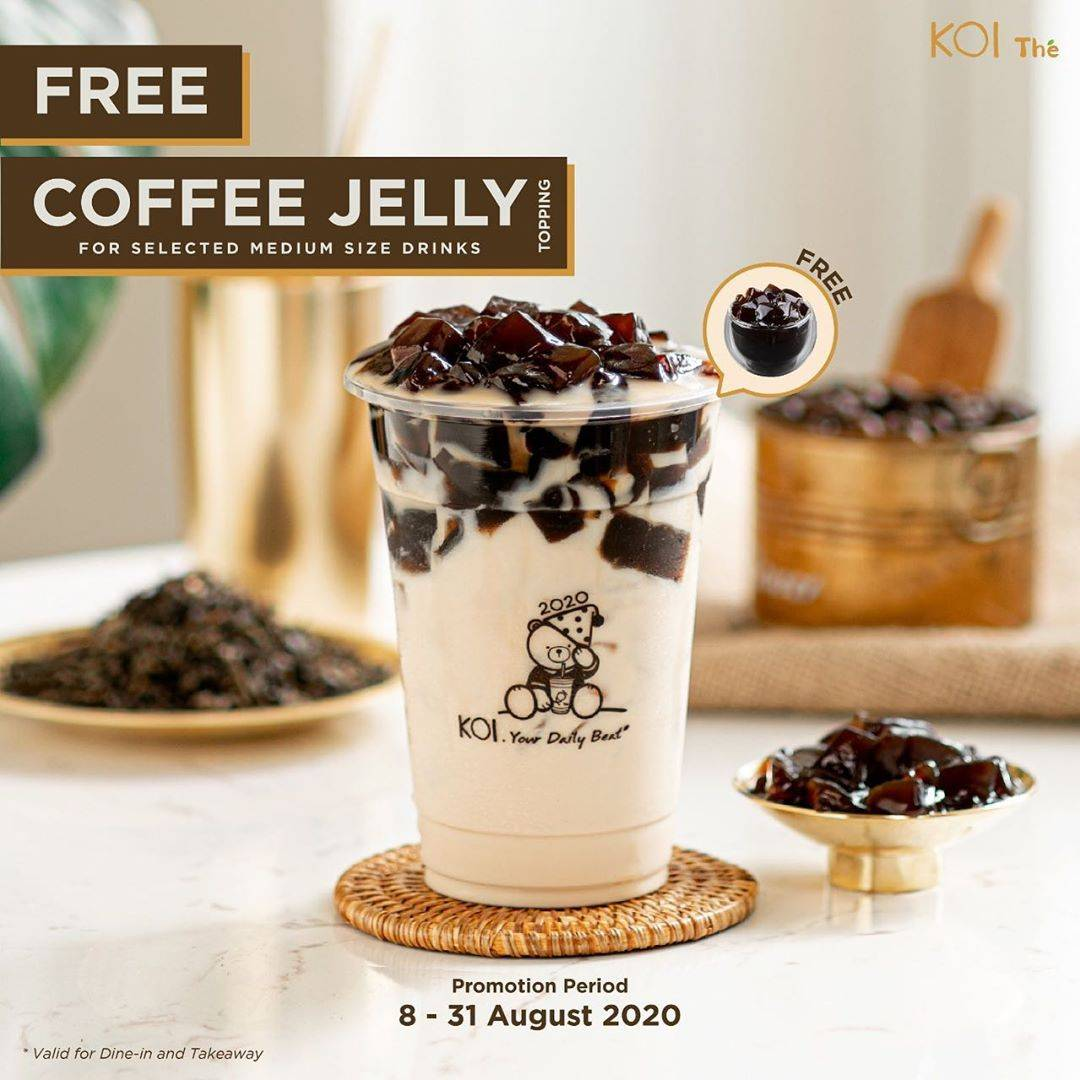 Diskon Promo Koi Free Coffee Jelly Topping For Every Purchase Selected Medium Size Drinks