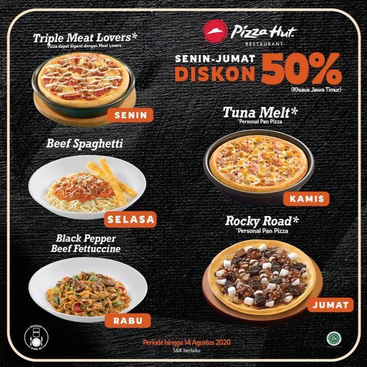 Diskon Promo Pizza Hut Jawa Timur Diskon 50% Untuk Menu Favorit