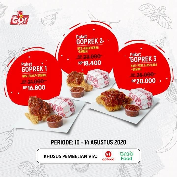 Diskon Promo Let's Go Chicken Diskon 20% Paket Go Geprek