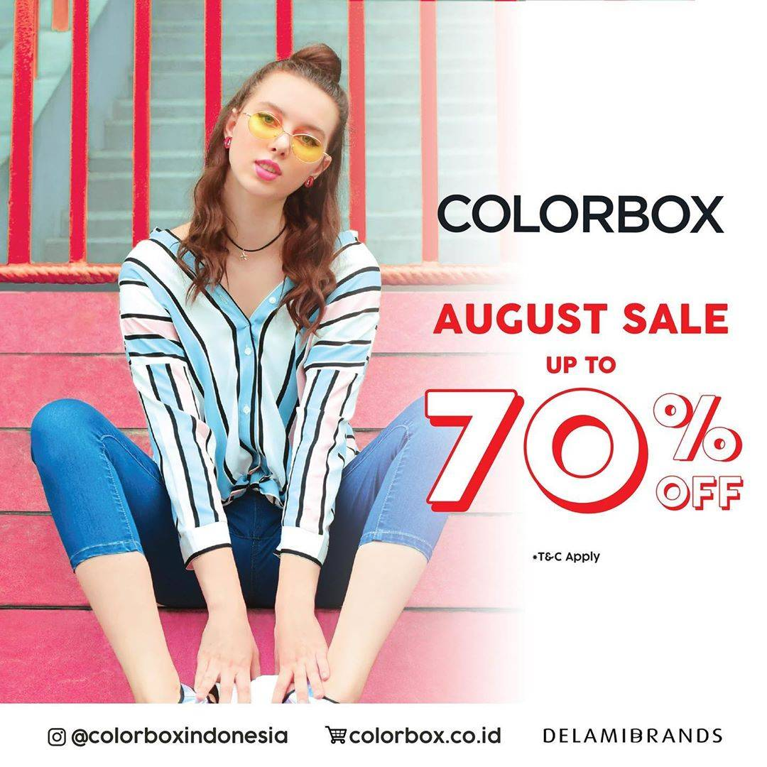 Diskon Colorbox Promo August Sale Enjoy Discount Up To 70% Off