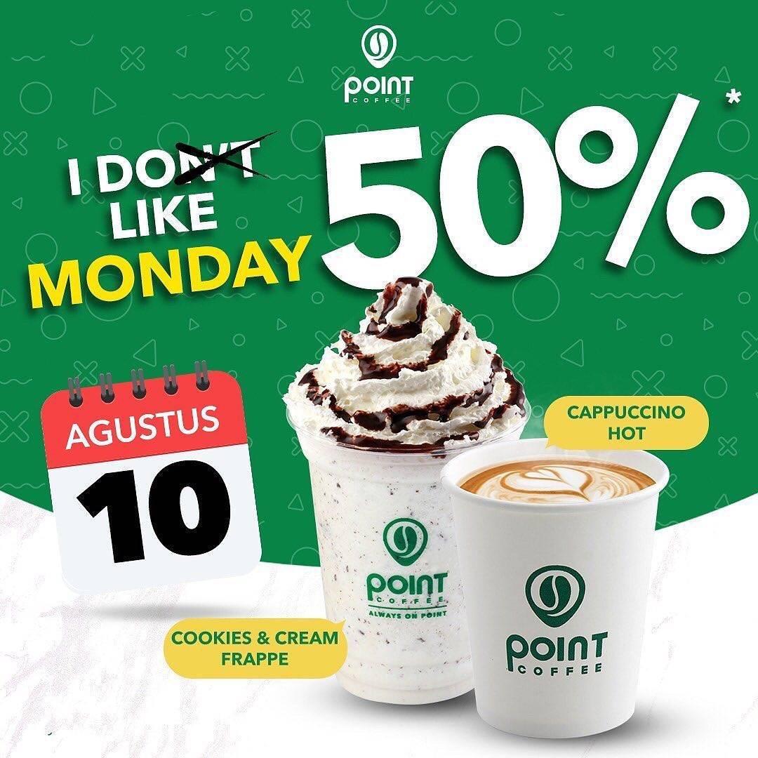 Diskon Promo Point Coffee I Do Like Monday Diskon 50%!!