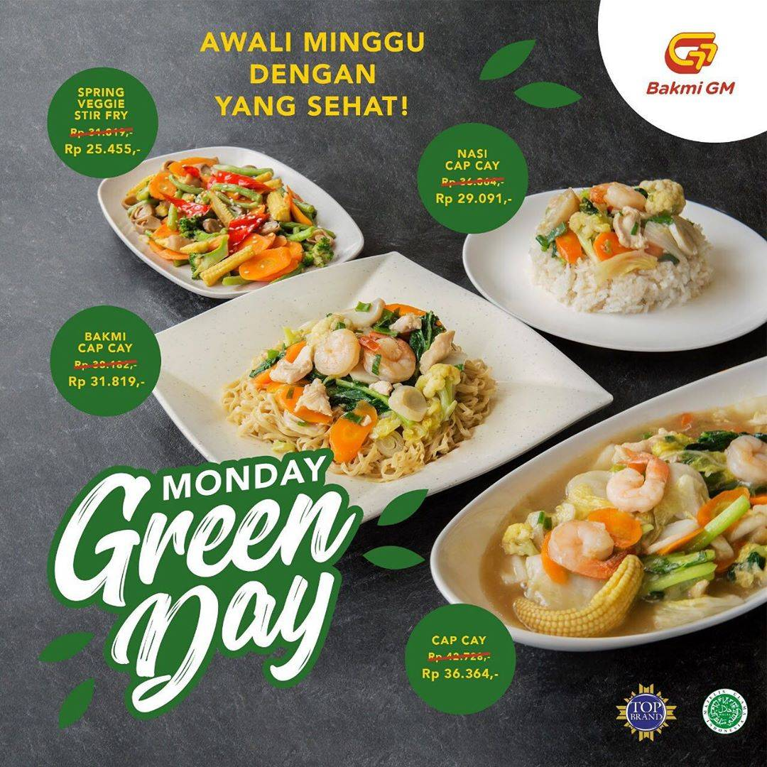 Diskon Promo Bakmi GM Monday Green Day, Harga Spesial Menu Sayuran Favorit Mulai Dari Rp. 25.455