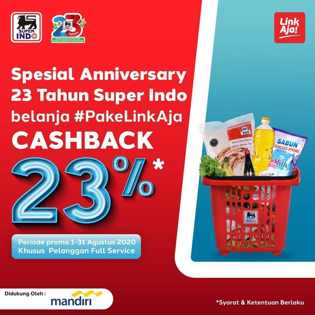 Diskon Katalog Promo Superindo Cashback 23% dengan LinkAja Hingga 31 Agustus 2020