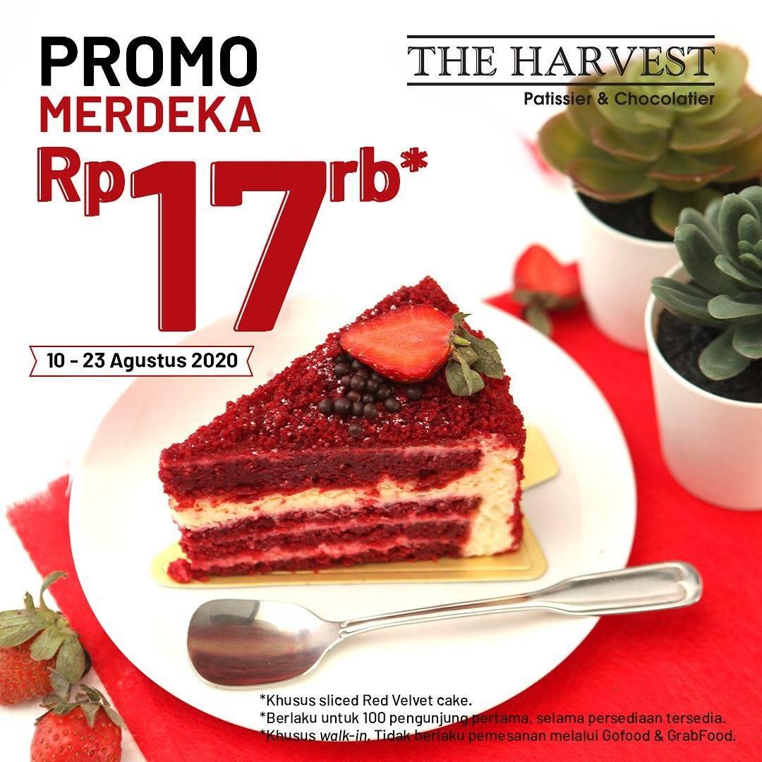Diskon Promo Merdeka The Harvest Harga Spesial Red Velvet Sliced Cake Cuma Rp. 17.000