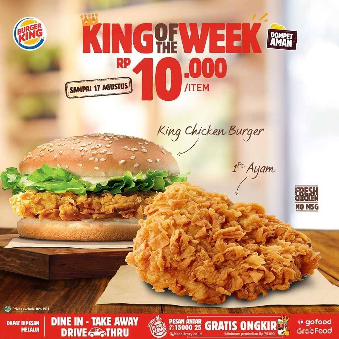 Promo diskon Promo Burger King King Of The Week