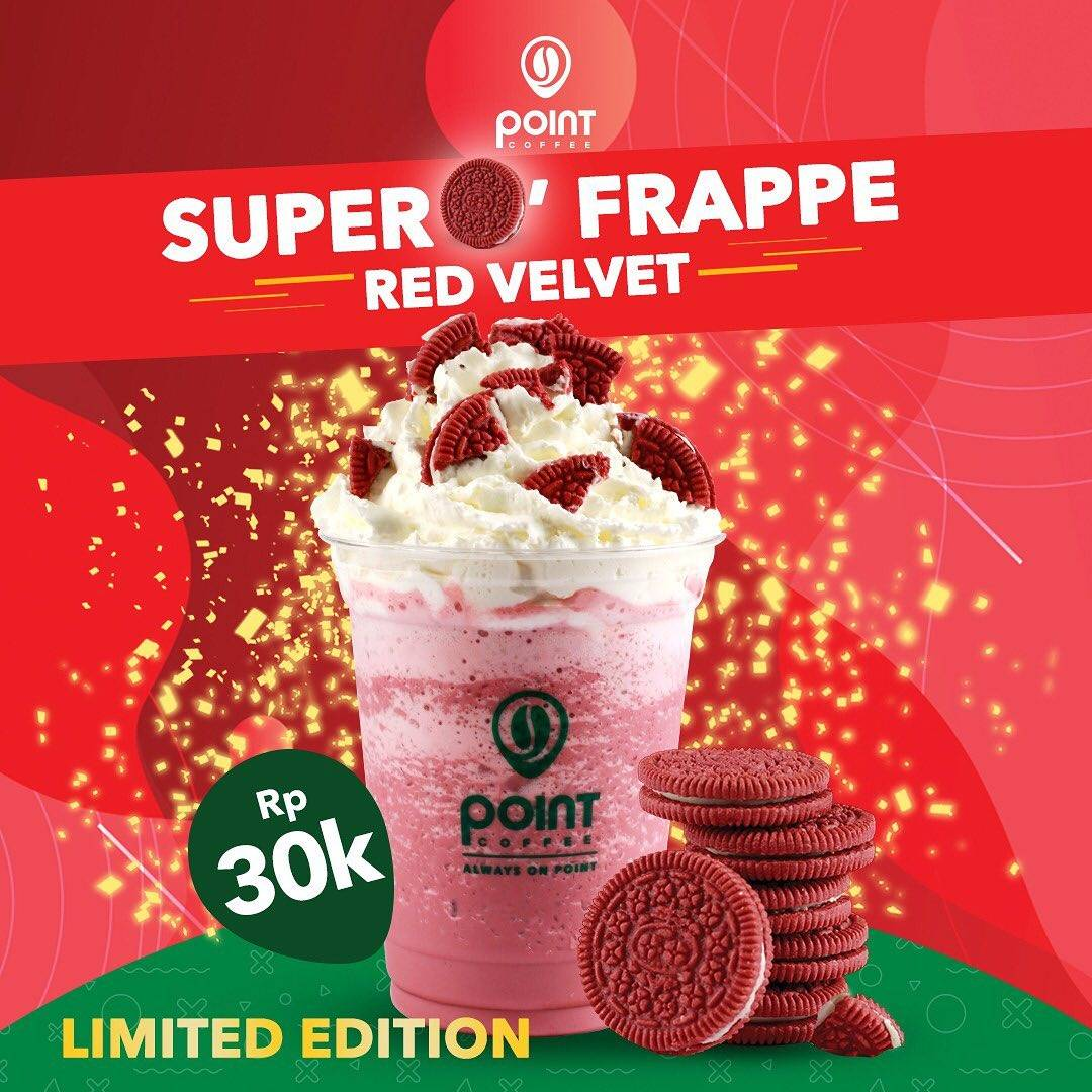 Diskon Promo Point Coffee Limited Edition Super O Frappe Red Velvet Hanya 30.000