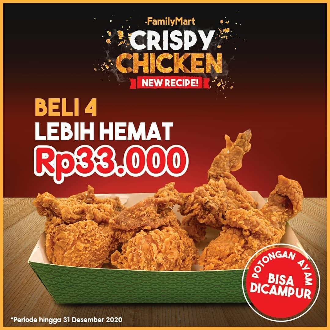 Diskon FamilyMart Promo Paket 4 Crispy Chicken Hanya Rp 33.000