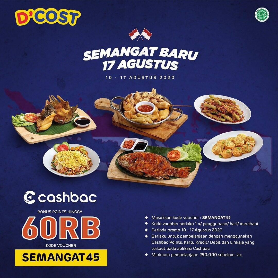 Diskon D'cost Promo Cashbac Bonus Points Hingga Rp 60.000
