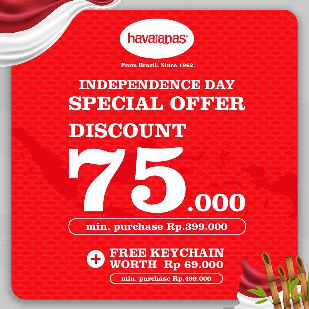 Diskon Havaianas Independence Day Special Offer Discount Rp 75.000
