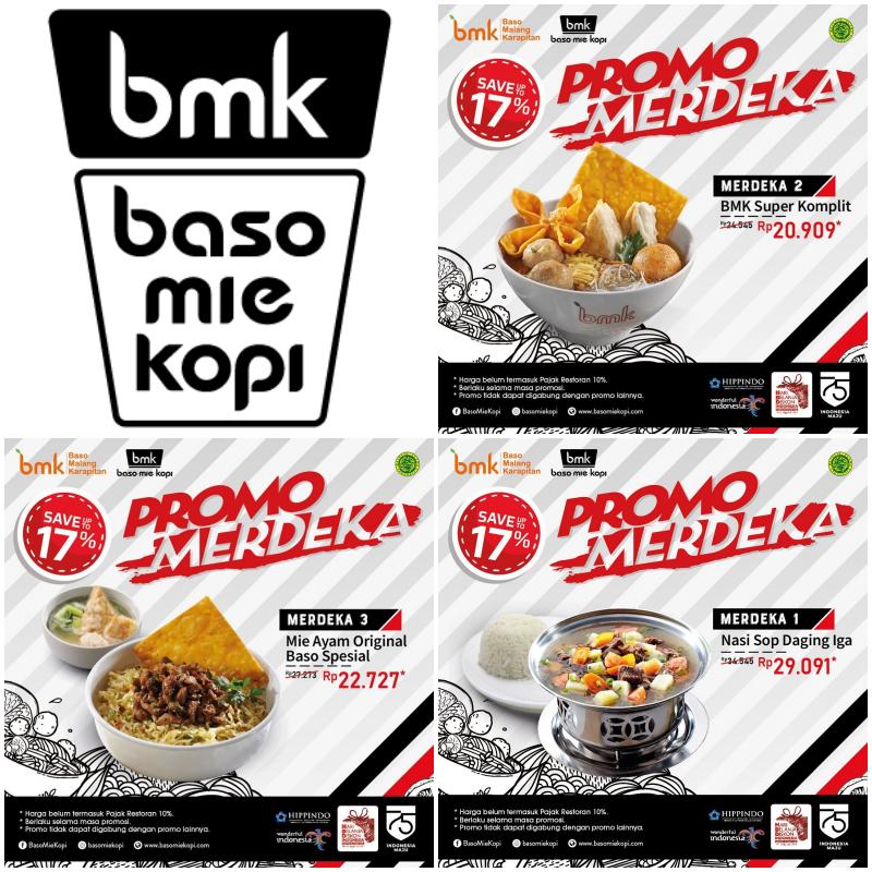 Diskon BMK Baso Mie Kopi Promo Paket Merdeka, Mulai dari Rp 20 Ribuan