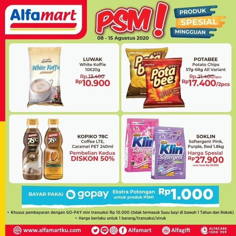 Diskon Katalog Promo Alfamart Promo Spesial Mingguan (PSM) Periode 8 - 15 Agustus 2020