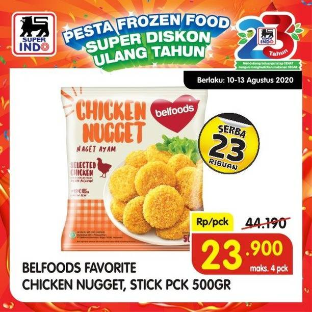 Diskon Katalog Promo Superindo Frozen Food Periode 10 - 13 Agustu 2020