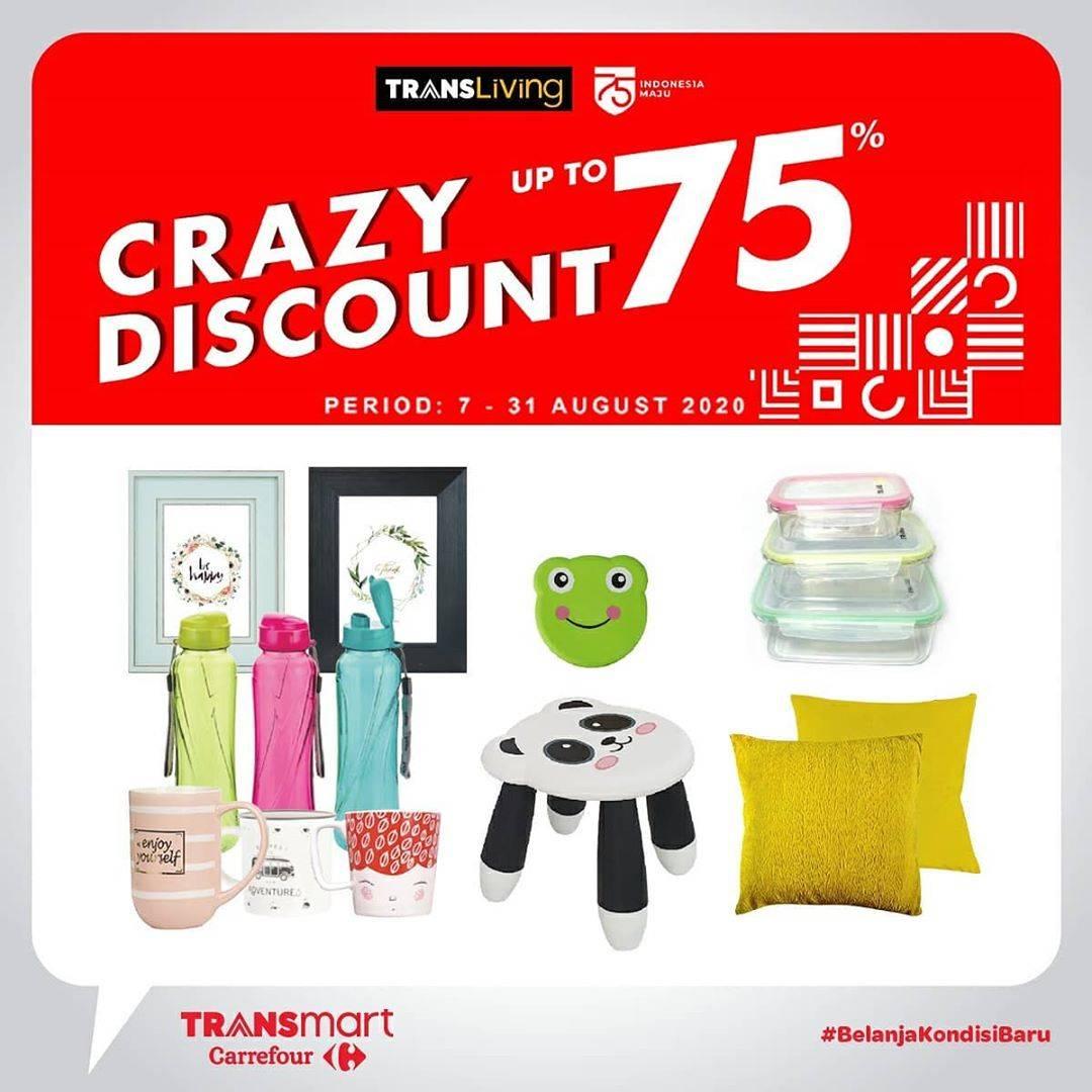 Diskon Katalog Promo Transmart Diskon 75% Periode 7 - 31 Agustus 2020