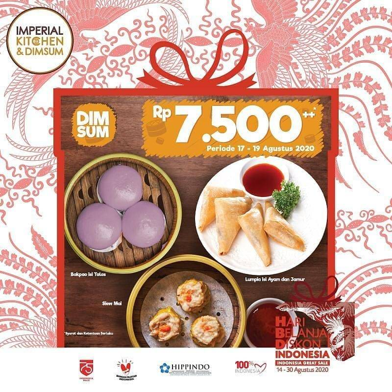 Diskon Promo Imperial Kitchen Harga Spesial Rp. 7.500++ Untuk Menu Dimsum Favorit