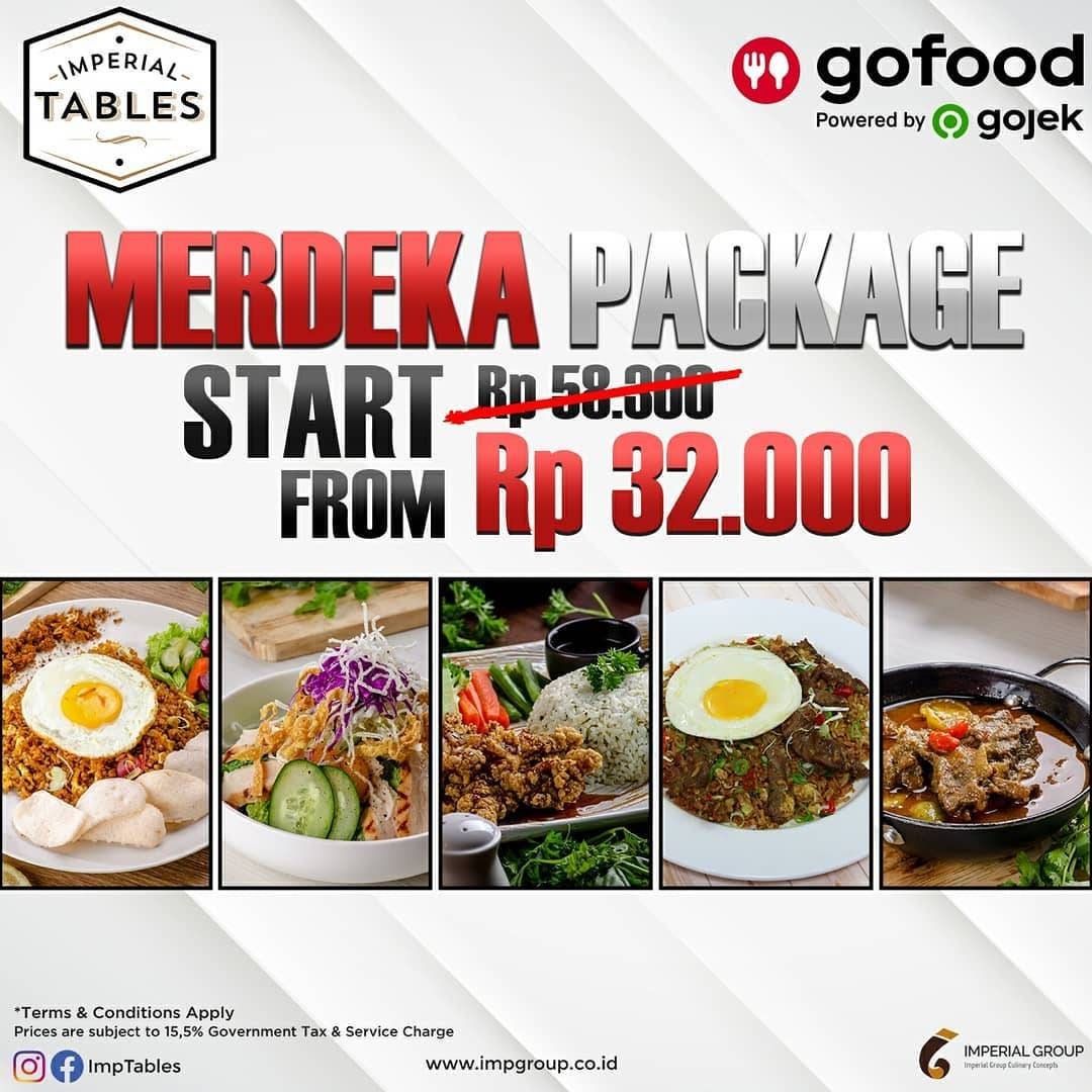 Diskon Promo Imperial Tables Merdeka Package Start From IDR. 32.000