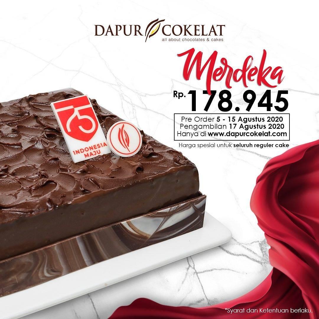 Diskon Promo Dapur Cokelat Harga Spesial Kemerdekaan Pre Order Cake Hanya Rp. 178.945