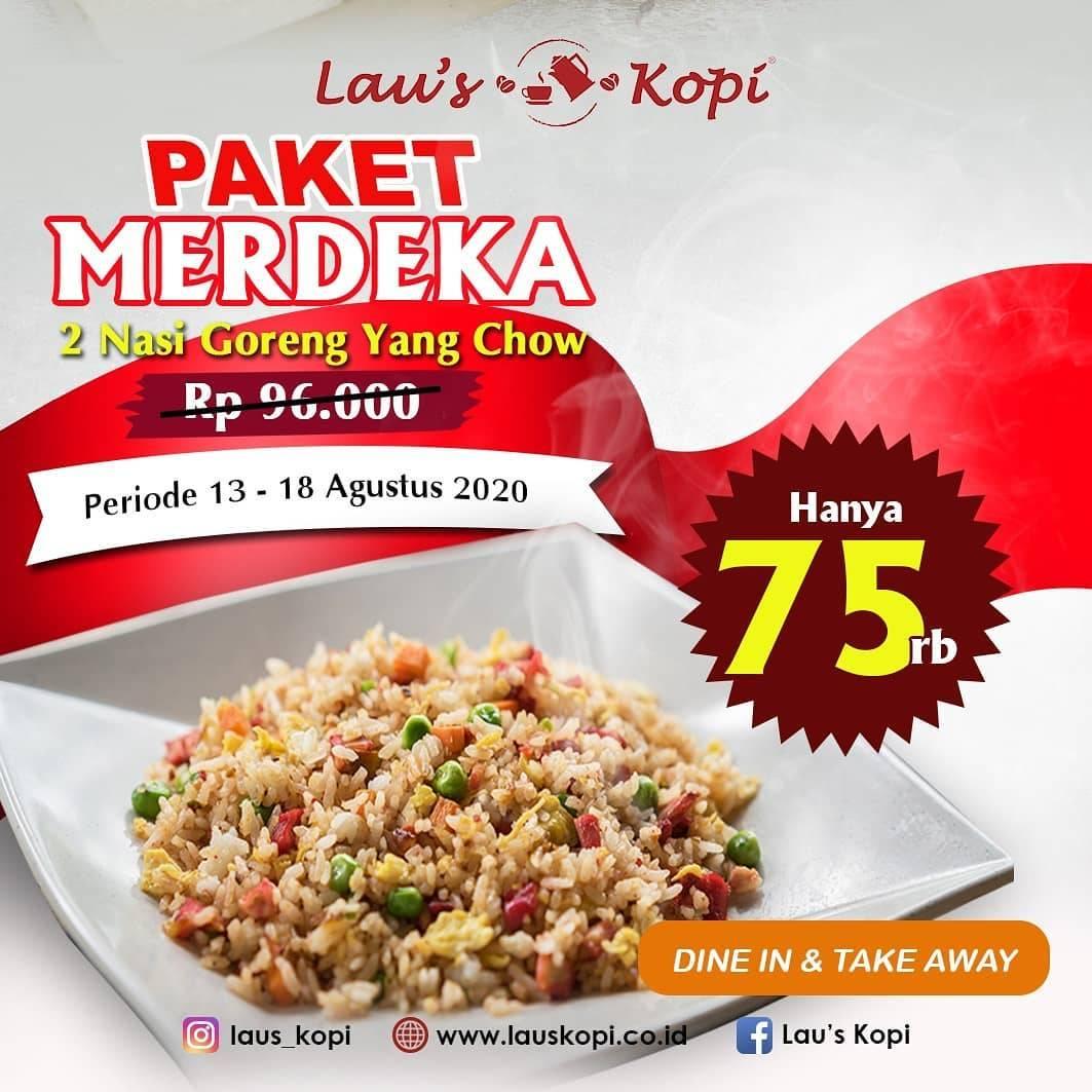 Promo Lau S Kopi Paket Merdeka 2 Nasi Goreng Yang Chow Cuma Rp 75 000 Disqonin