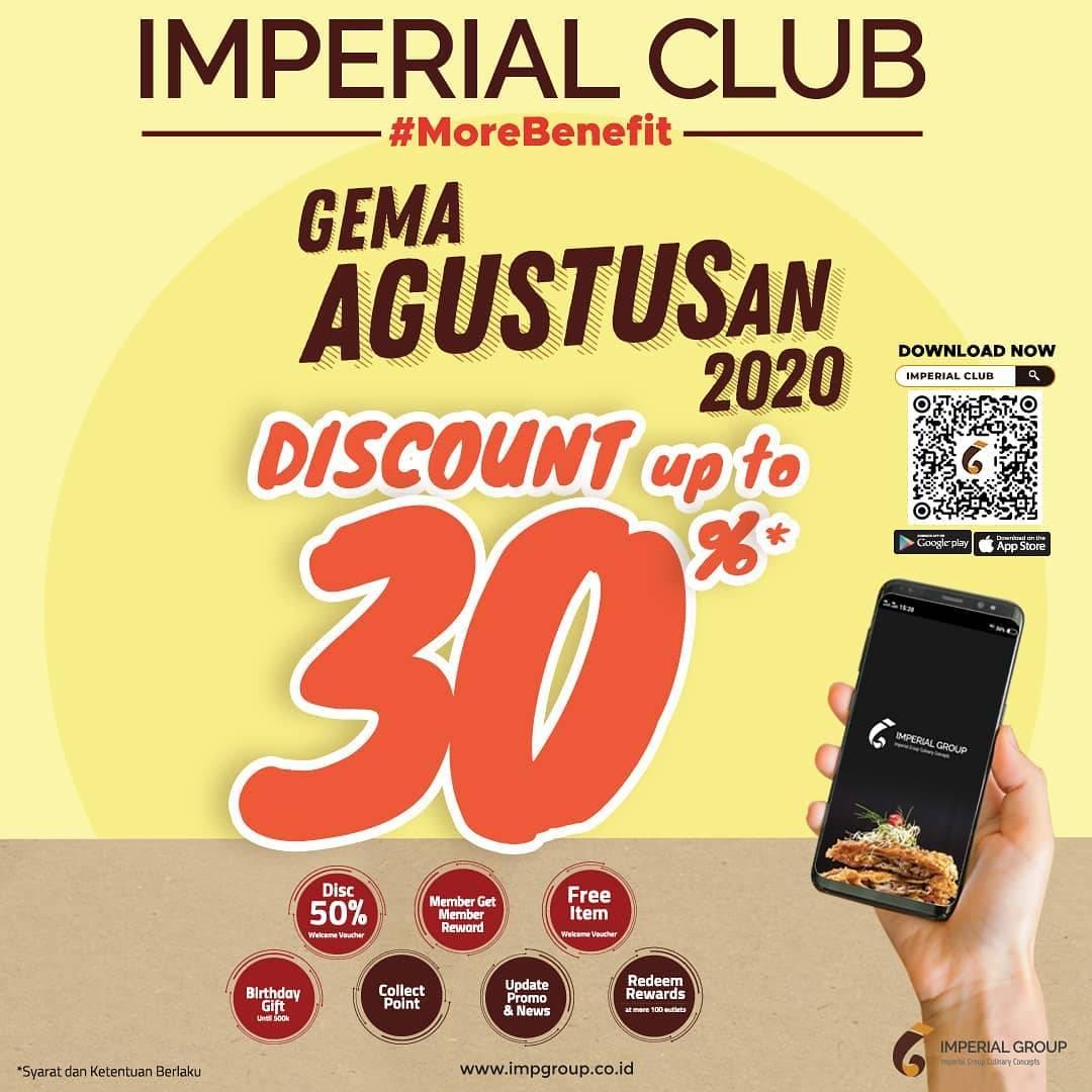 Diskon Imperial Club Member Promo Gema Agustusan Diskon Sampai 30%