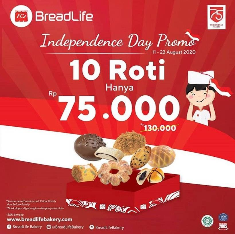 Diskon Breadlife Promo Paket Merdeka 10 Roti Hanya Rp 75.000,-