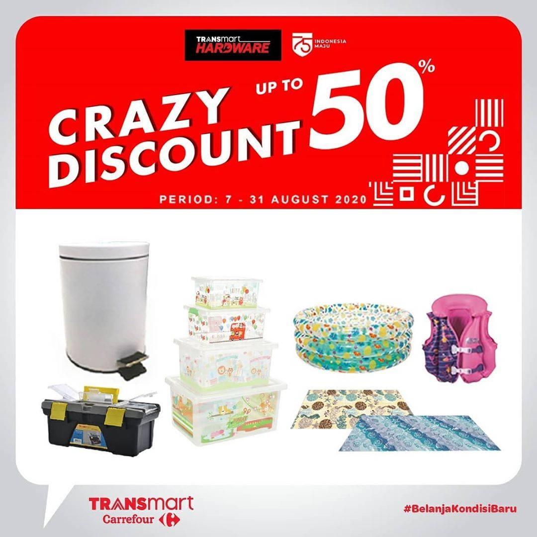 Diskon Katalog Promo Transmart Diskon 50%!!! Periode 7 - 31 Agustus 2020