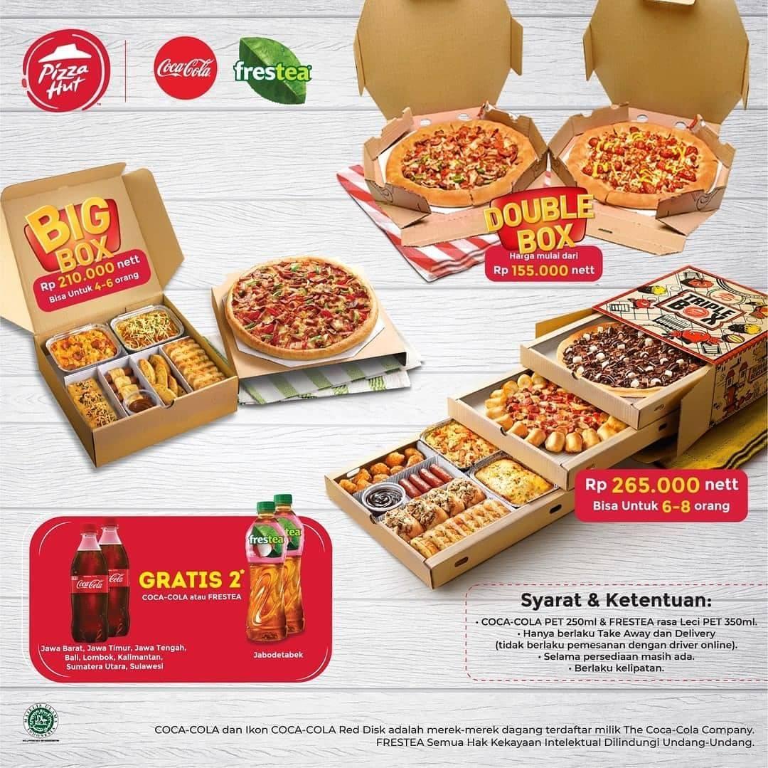 Diskon Promo Pizza Hut Gratis 2 Fresh Tea/ 2 Coca Cola Untuk Pembelian Menu Favorit