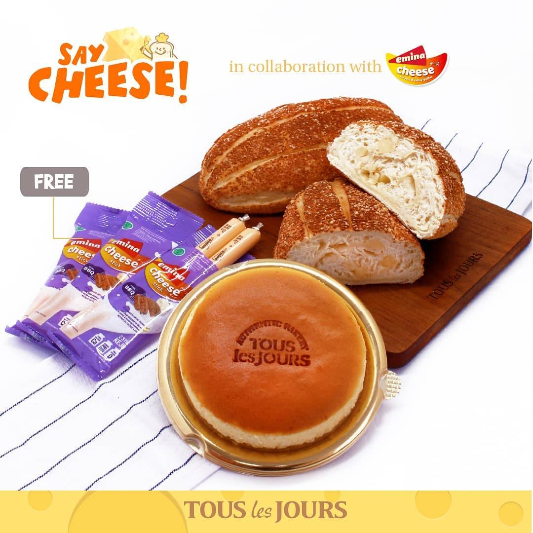 Diskon Promo Tous Les Jours Buy Cheese Volcano / Cheese Time Get Free Emina Cheese Stick