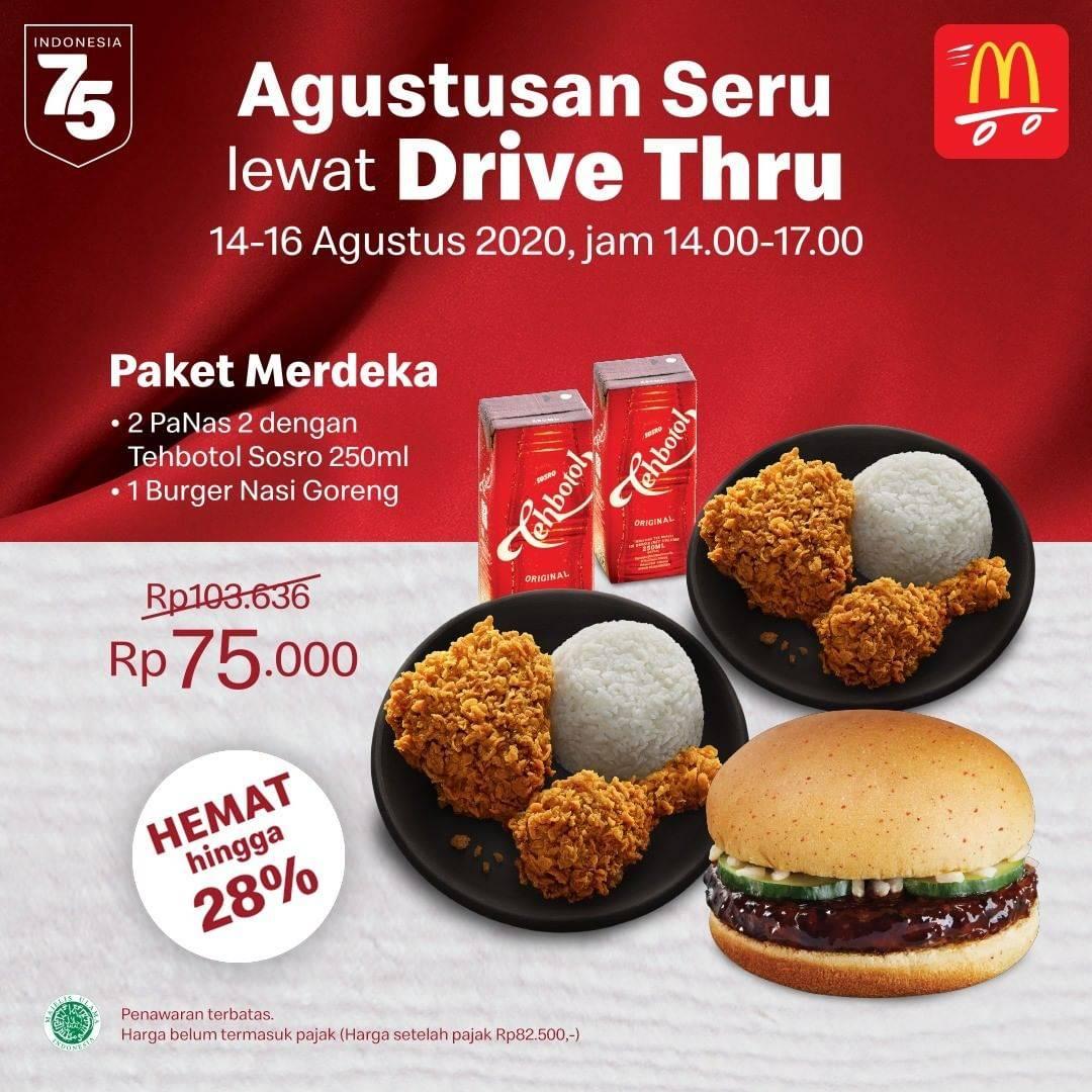 Diskon McDonalds Promo Agustusan Seru lewat Drive Thru