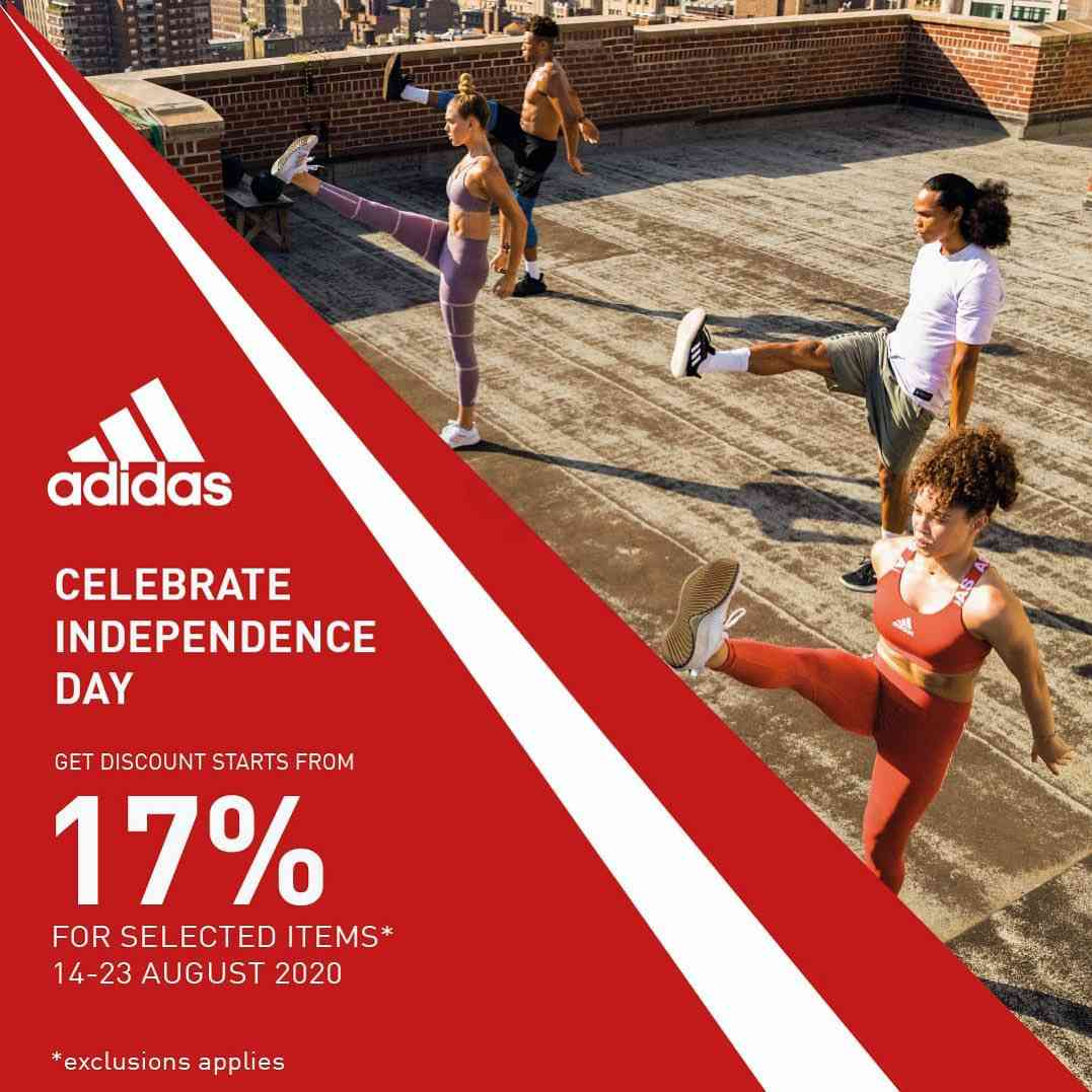Diskon Adidas Independence Day Promo Get Discount 17% For Selected Items