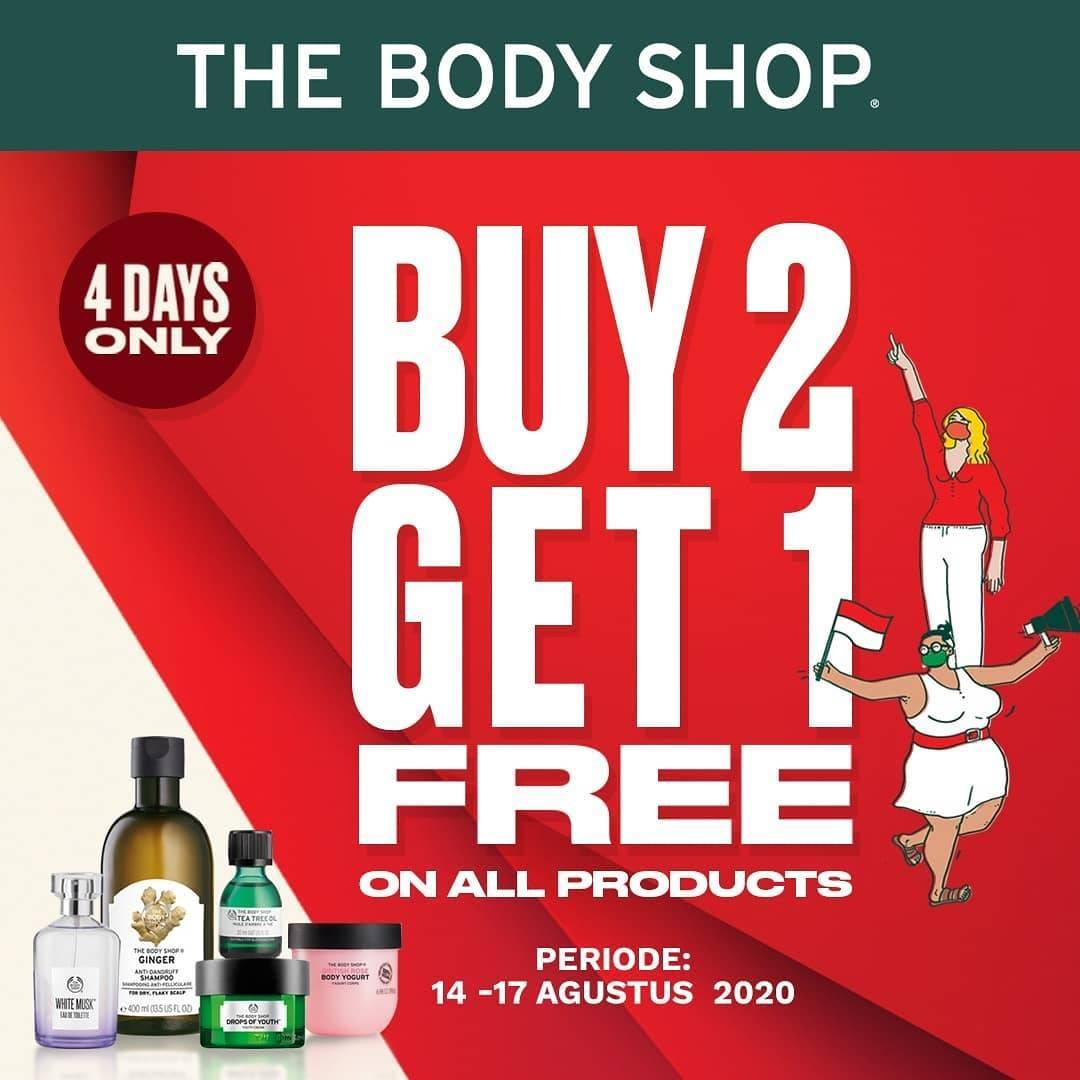 Diskon The Body Shop Promo Buy 2 Get 1 Free