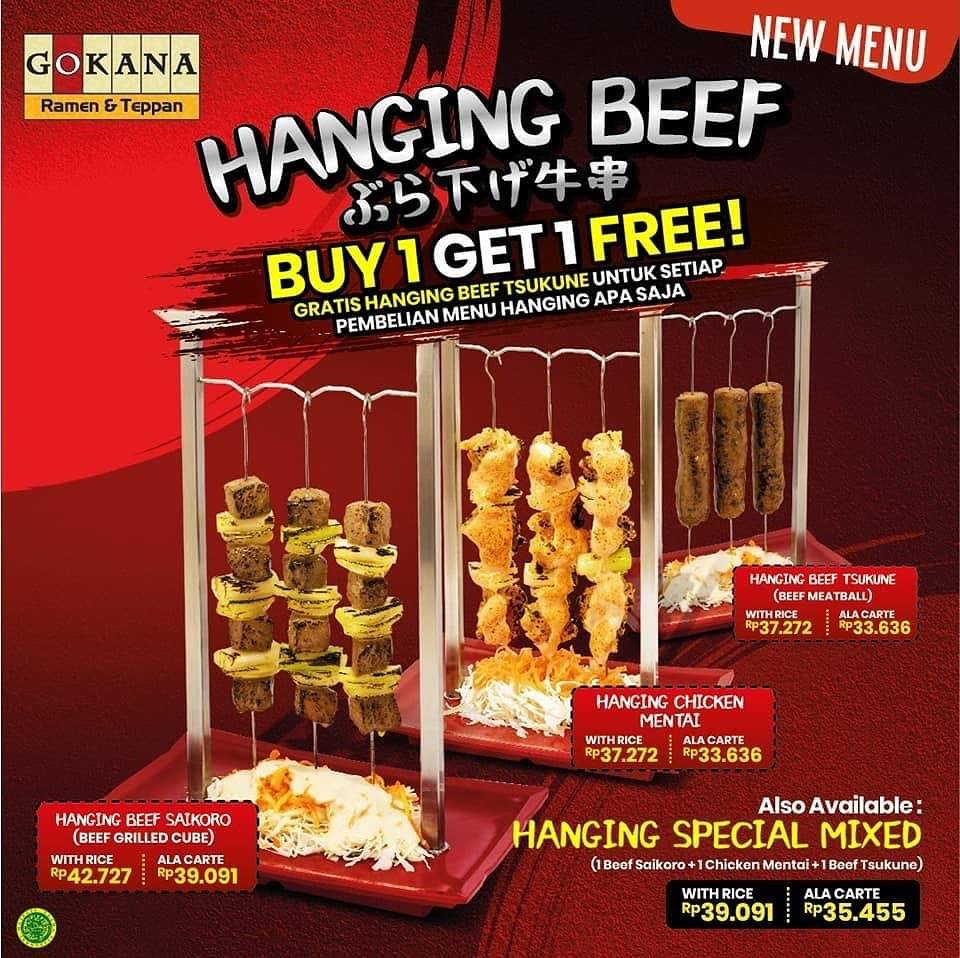 Diskon Gokana Promo Menu Baru Hanging Beef series Beli 1 Gratis 1