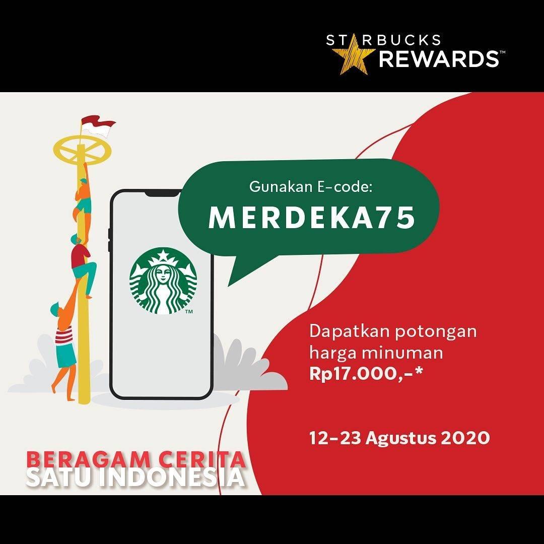 Diskon Starbucks Promo khusus Starbucks Rewards members Potongan harga Rp17.000,-