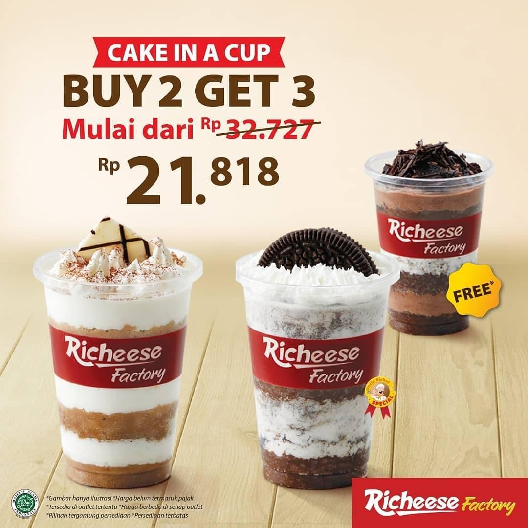 Diskon Richeese Promo Cake In A Cup Beli 2 Gratis 1