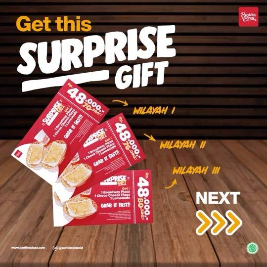 Diskon Panties Pizza Promo Surprise Gift