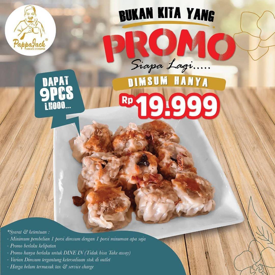 Diskon PappaJack Asian Cuisine Promo Dimsum Hanya Rp 19.999