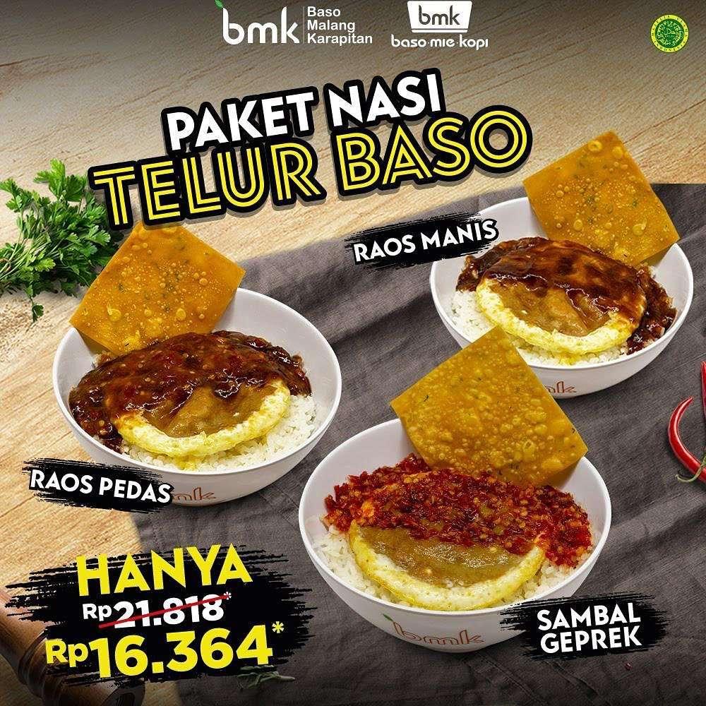 Diskon Promo BMK Harga Spesial Paket Nasi Telur Baso Hanya Rp. 16.364