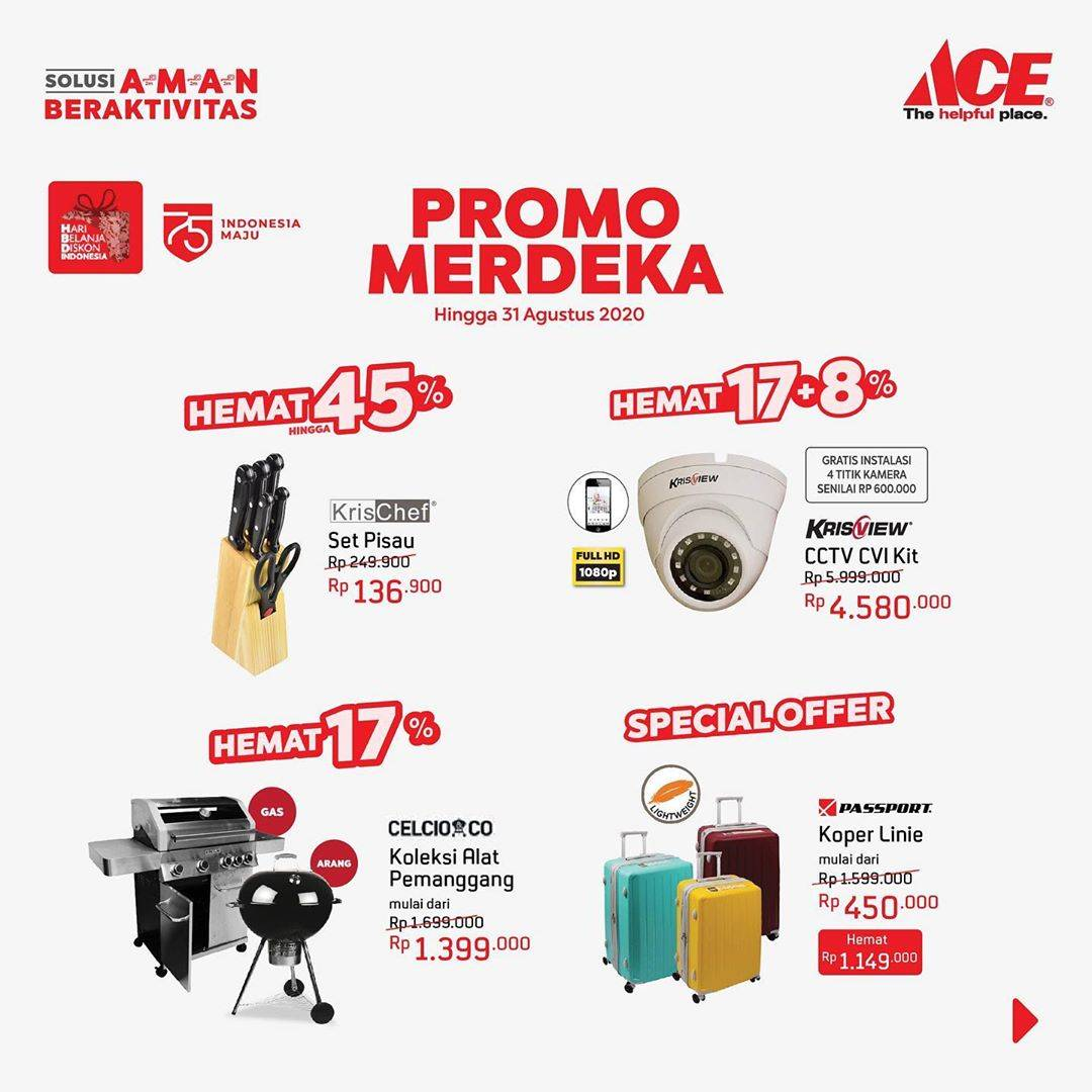 Diskon Promo Merdeka Ace Hardware Diskon Hingga 45% + Penawaran Menarik Lainnya