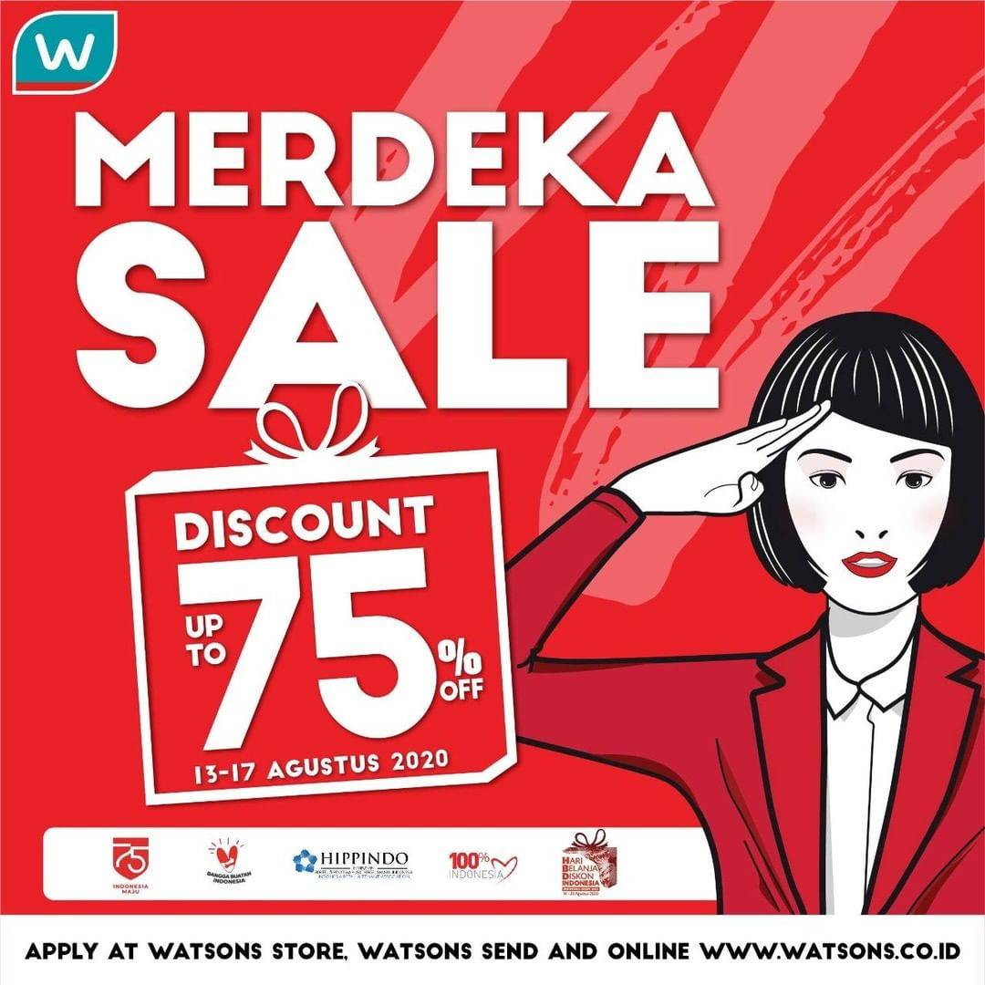 Diskon Promo Watsons Merdeka Sale Up To 75% Off + Voucher Cashback