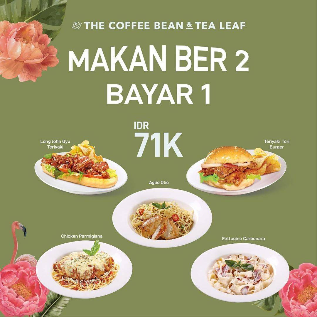 Diskon The Coffee Bean Promo Makan Ber-2 Bayar 1