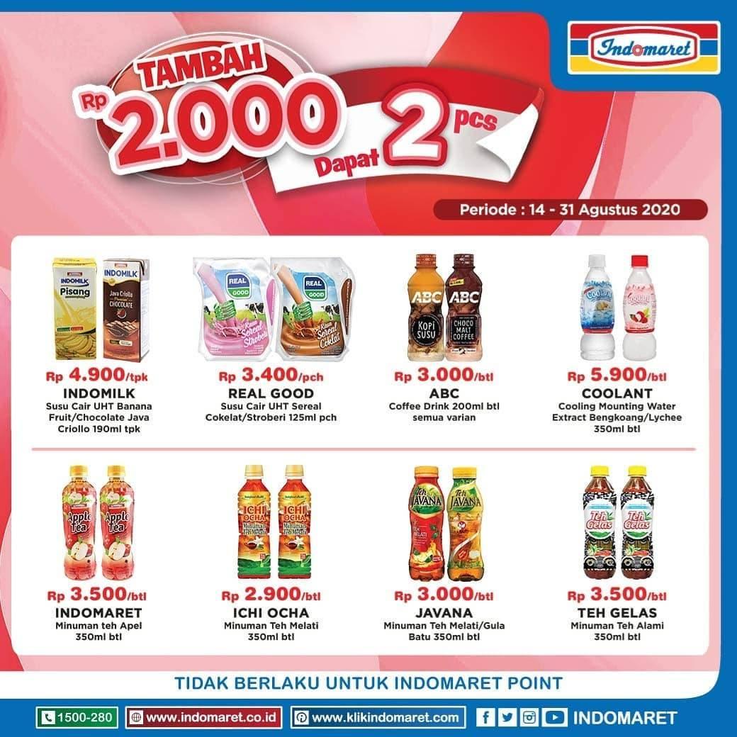 Diskon Katalog Promo Indomaret Minuman +2000 Dapat 2 Periode 14 -31 Agustus 2020