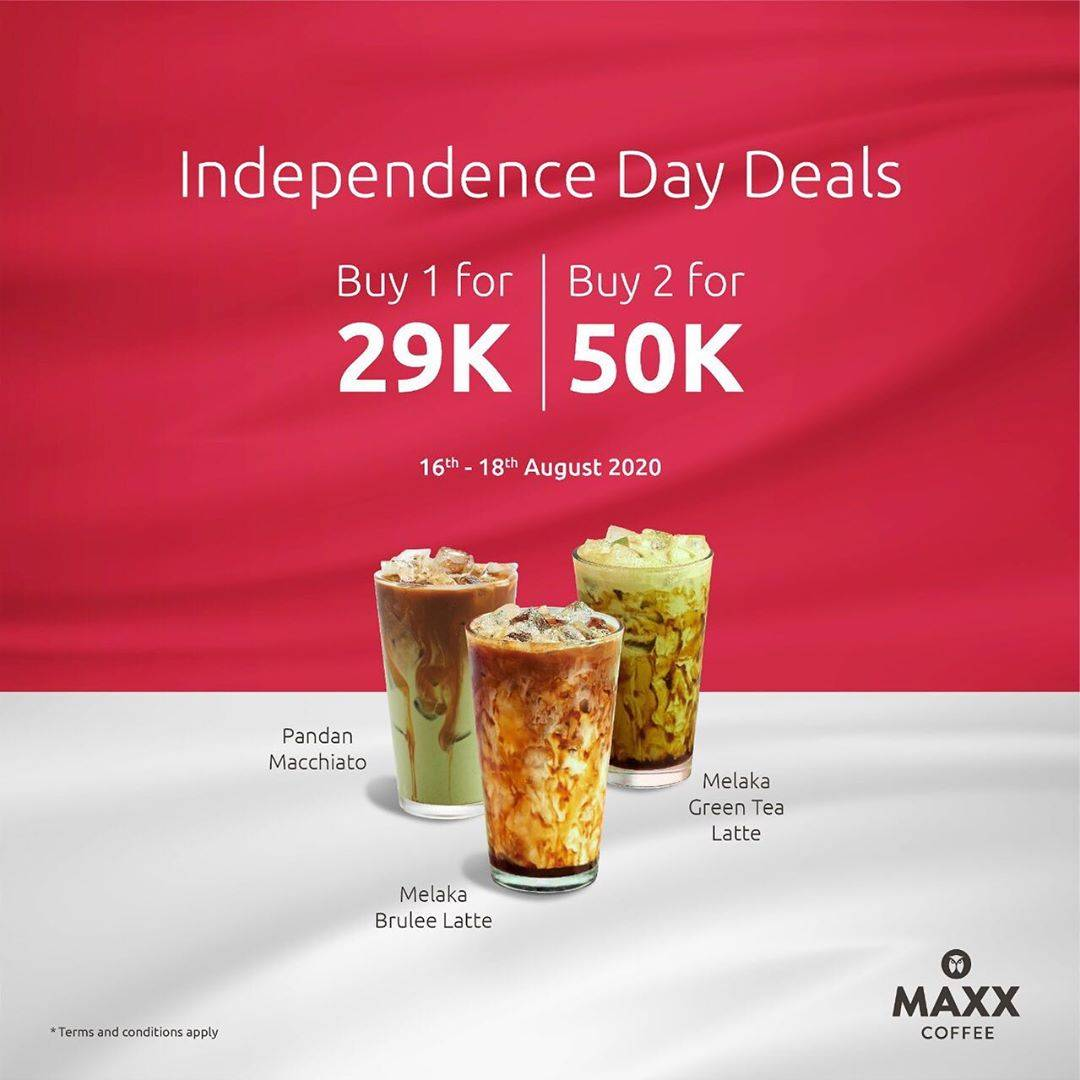 Diskon Maxx Coffee Independence Day Deals Buy 2 for 50K!!