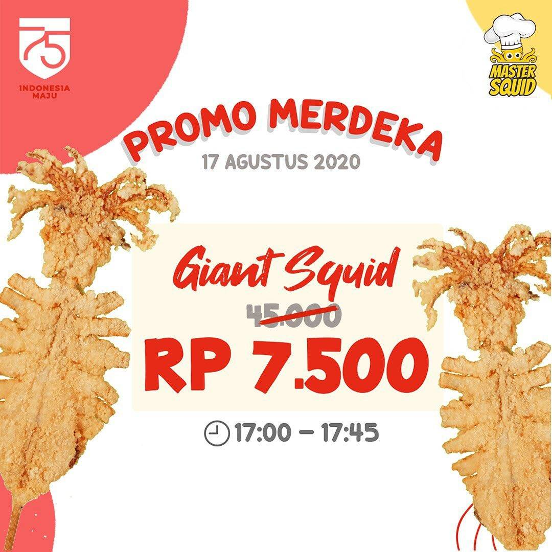 Diskon Master Squid Promo Kemerdekaan Giant Squid Rp 7.500 Ajaaa!!!