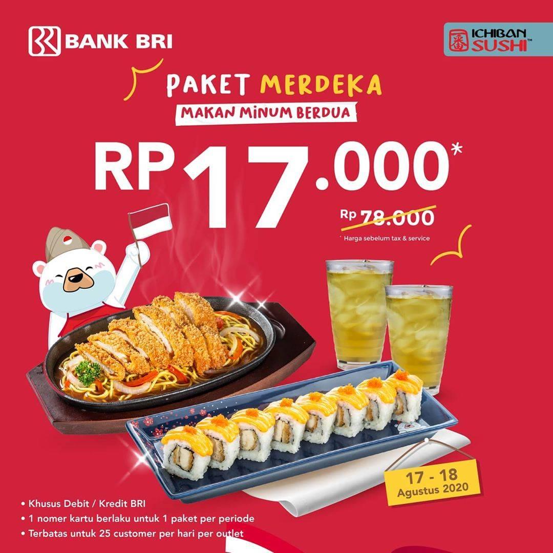 Diskon Promo Ichiban Sushi Paket Merdeka Hanya Rp. 17.000