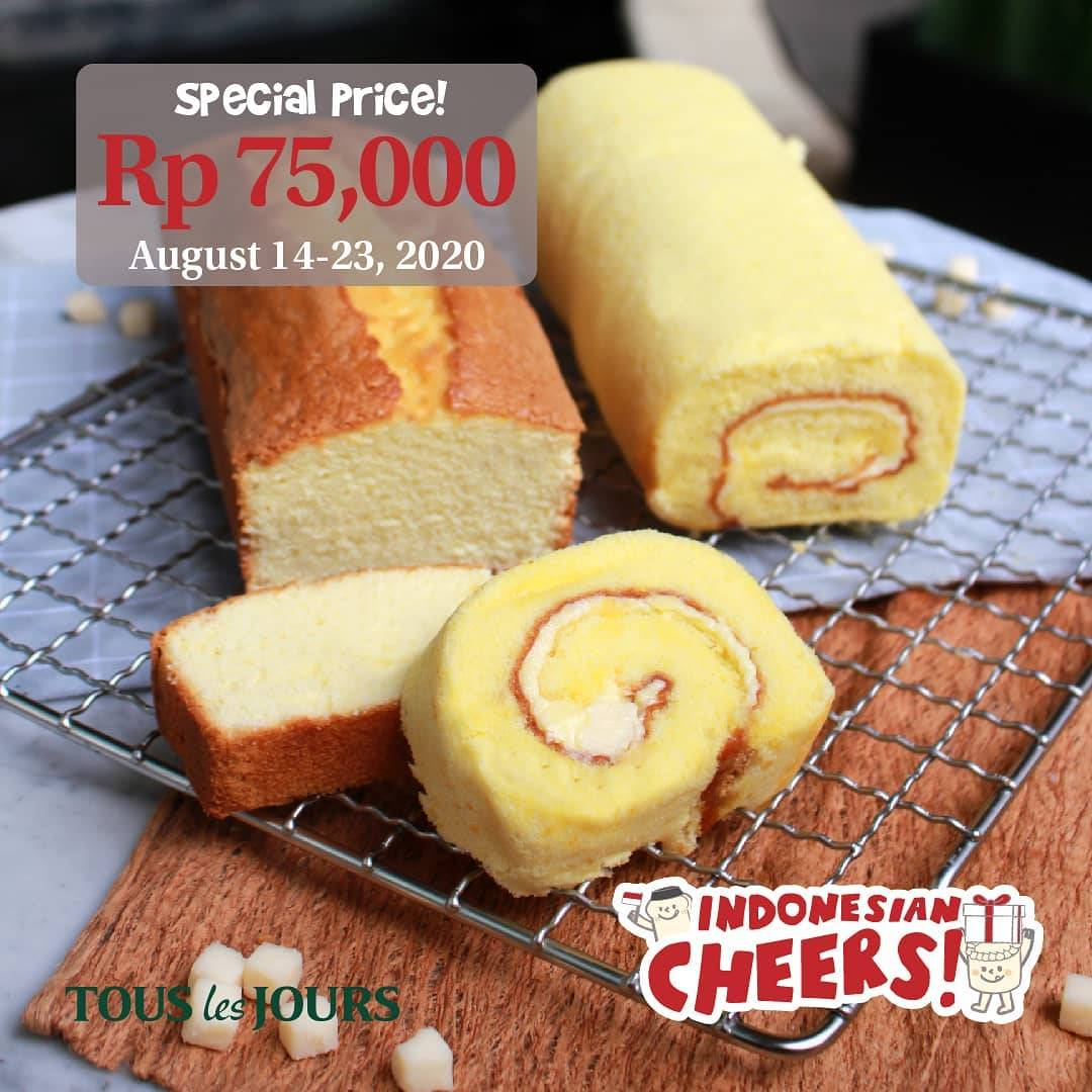 Diskon Promo Tous Les Jours Special Independence Day Selected Cake Only For Rp. 75.000