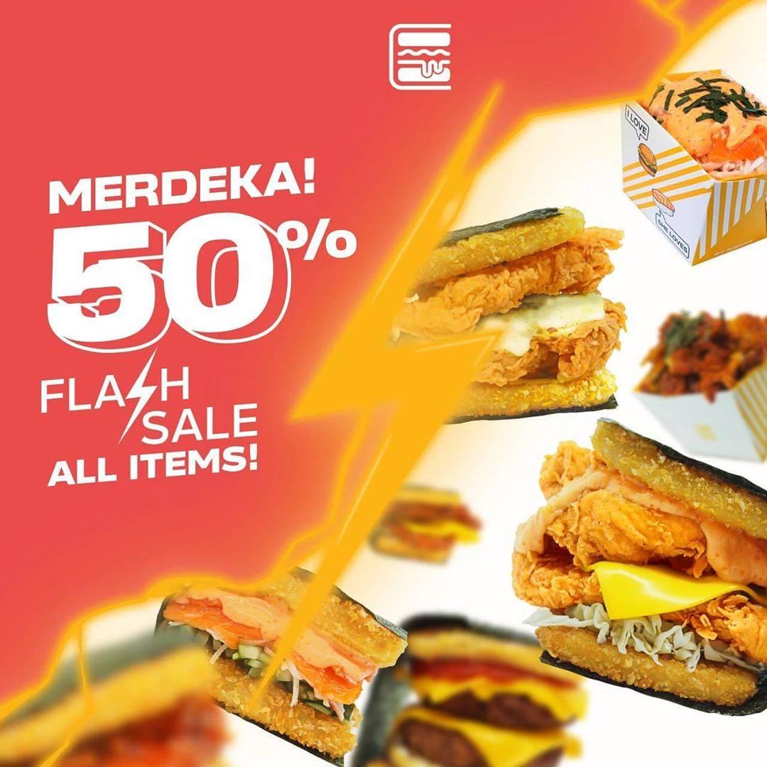 Diskon Promo Burgushi Flash Sale Kemerdekaan - Diskon 50% On All Items