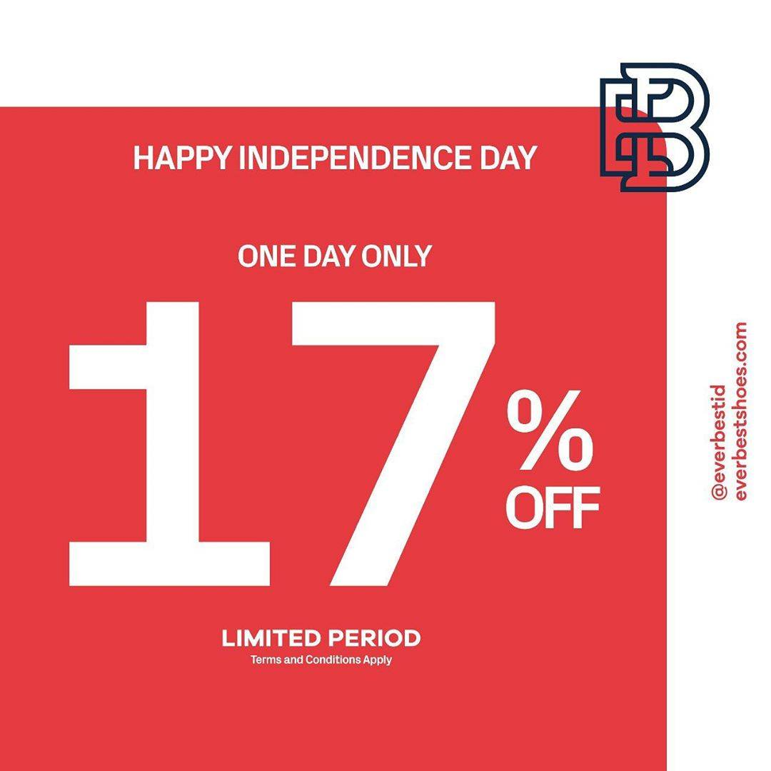 Diskon Promo Everbest Independence Day Exclusive Offer Extra 17% Off