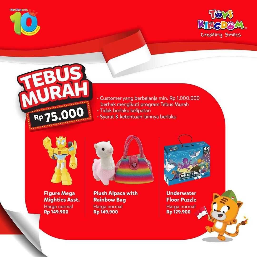 Promo diskon Promo Toys Kingdom Spesial Kemerdekaan