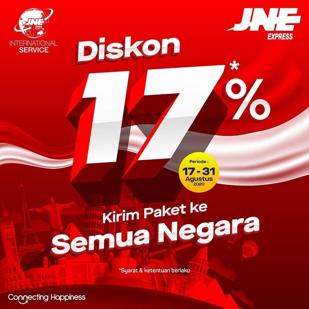 Diskon JNE Express Promo Diskon 17% Kirim Paket Ke Semua Negara
