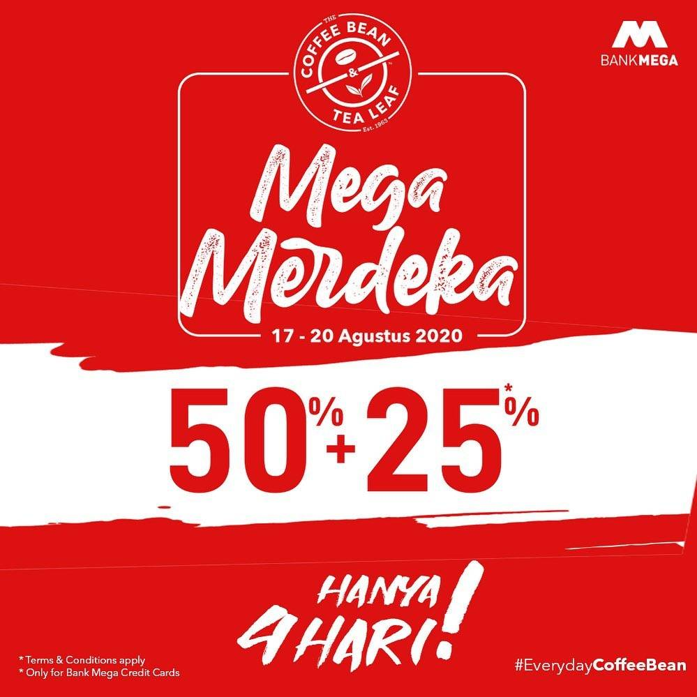 The Coffee Bean Tea Leaf Promo Mega Merdeka Disc 50 25 Kartu Kredit Bank Mega Disqonin