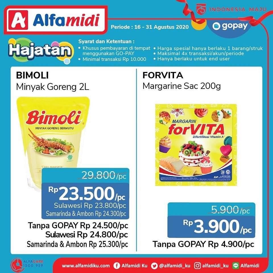 Diskon Katalog Promo Alfamidi bayar dengan Gopay Periode 16 - 31 Agustus 2020